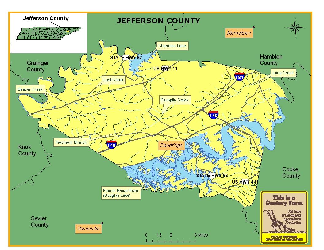 Jefferson County Map