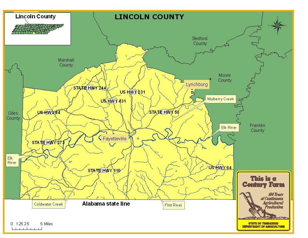 Lincoln County Map