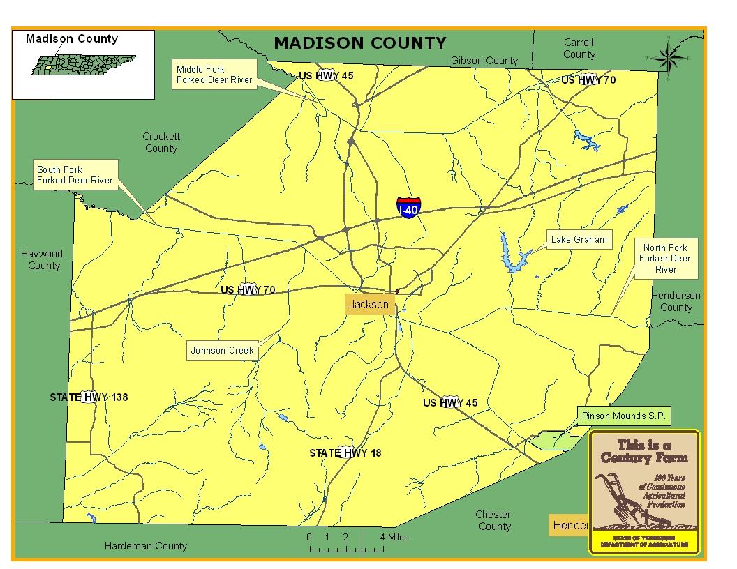 Madison County Map