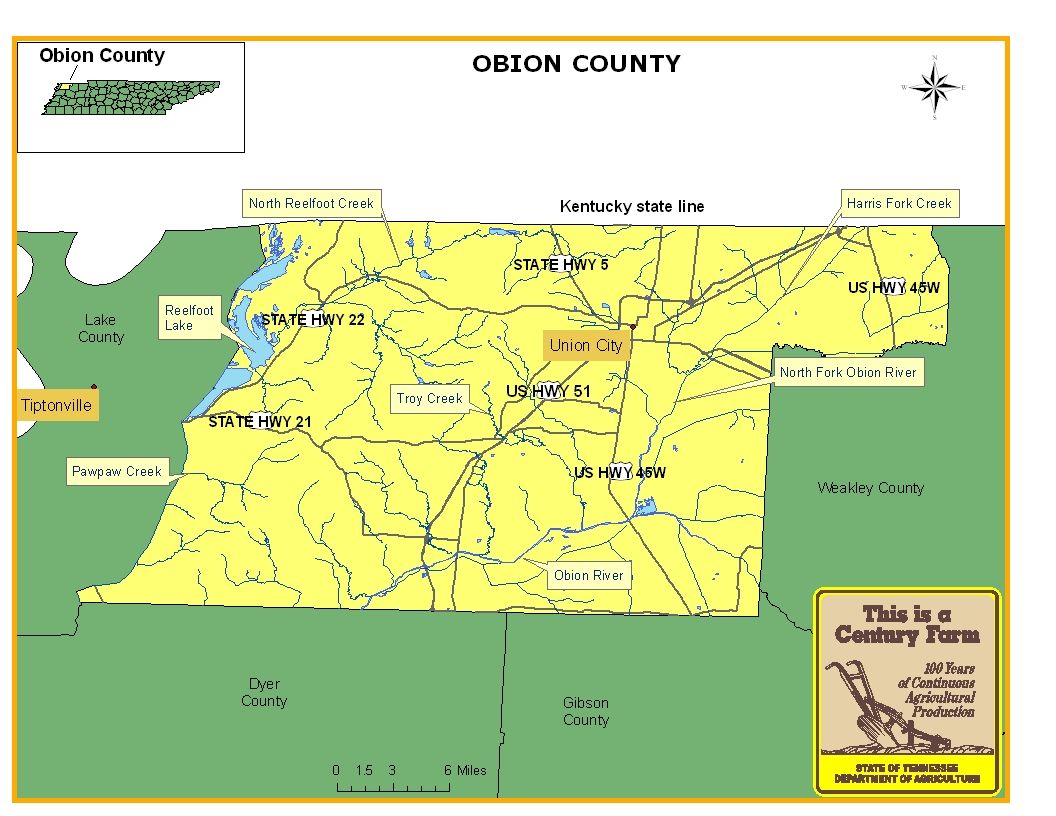 Obion County Map