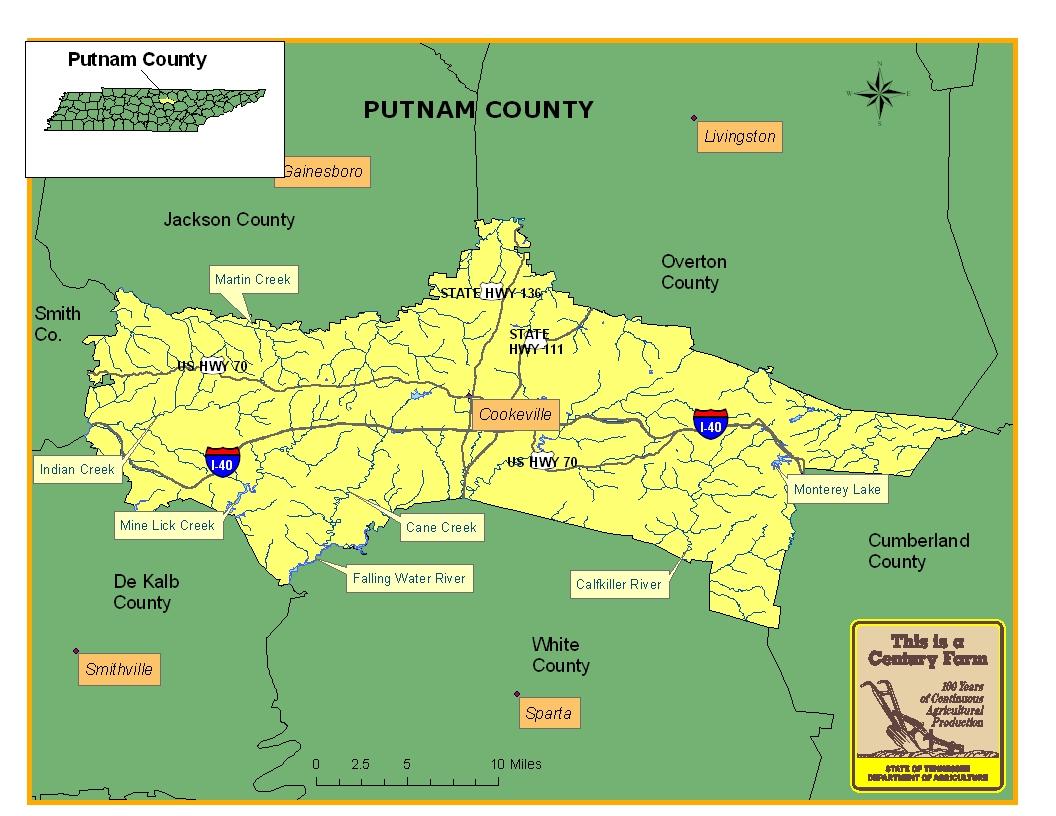 Putnam County Map