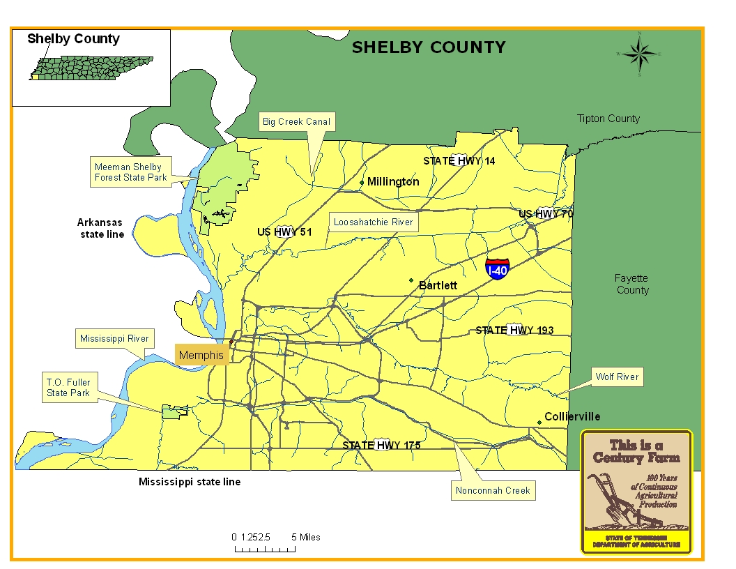 Shelby County Map
