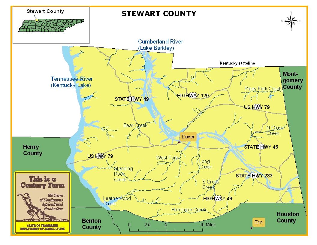 Stewart County Map