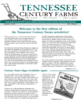 Tennessee Century Farms Newsletter Spring/Summer 2004