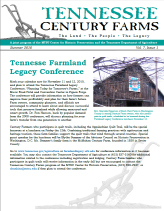 Tennessee Century Farms Newsletter Spring/Summer 2010