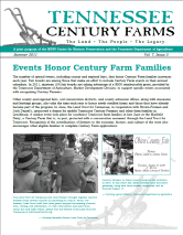 Tennessee Century Farms Newsletter Spring/Summer 2011