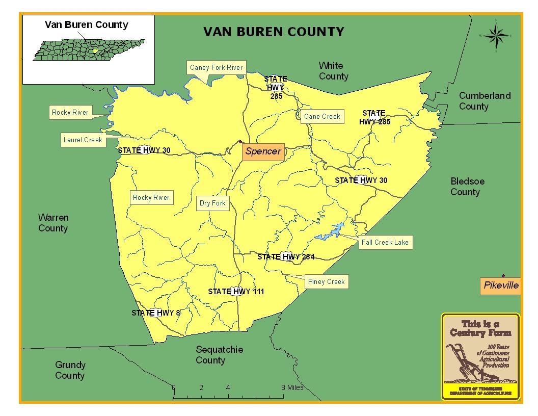 Van Buren County Map