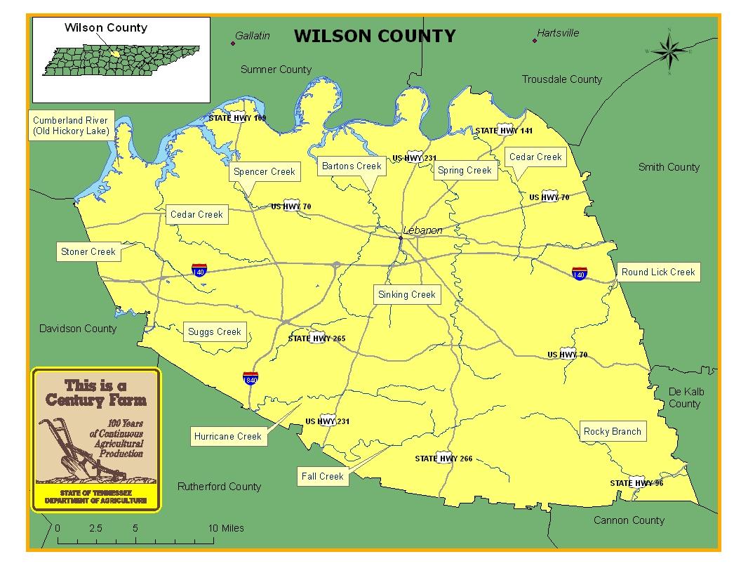 Wilson County Map